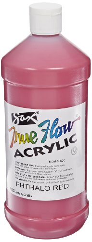 Sax True Flow Medium Bodied Acrylic Paint - Quart - Phthalo Red