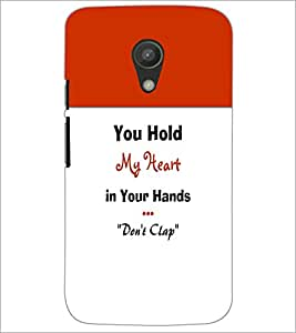 PrintDhaba Quote D-3197 Back Case Cover for MOTOROLA MOTO G2 (Multi-Coloured)