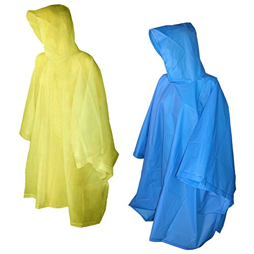 Totes Raines Children's Rain Poncho 2 Pack (Yellow/Royal Blue)