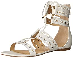 Ivanka Trump Women\'s Cathy Gladiator Sandal, Cream, 8 M US