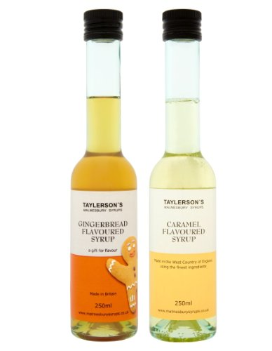 2 x 250ml Gingerbread Syrup and Caramel Syrup