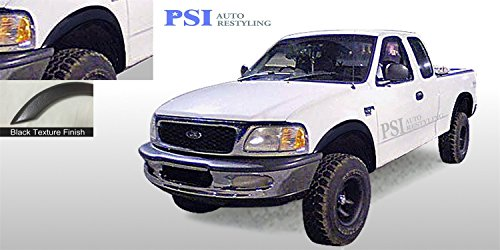 PSI Auto Restyling 801-0303T Rugged Style Fender Flares; Front And Rear; Flare Width 4.5 in.; Tire Coverage 1.50 in; Textured Black (2002 F150 Fender Flares compare prices)