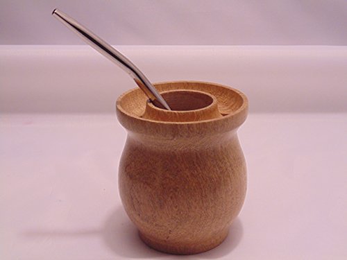 Handcrafted Yerba Mate Set: Gourd Mate Cup +Stainless Steel Bombilla Straw From Argentina