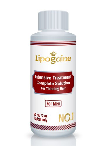 Lipogaine for Men: Minoxidil Enhanced with Azelaic Acid DHT Blocker, Biotin, Vitamin, Intensive Treatment & Complete Solution for Hair Loss / Thinning (For Men Only Formula) 30 days money back Guarantee