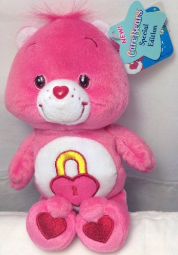 "Secret Care Bears Beanie Plush - 2004 Pink 8"" Beanie Special Edition Series 3 front-12118"