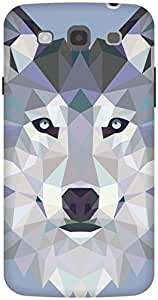 The Racoon Lean Ice Wolf Edged hard plastic printed back case / cover for Samsung Galaxy Mega 5.8