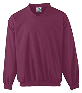Augusta Adult Micro Poly Windshirt/Lined (Maroon) (4X)