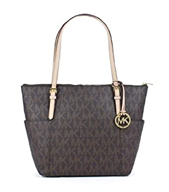 michael kors jet set ew top zip tote pvc mk signature. Black Bedroom Furniture Sets. Home Design Ideas