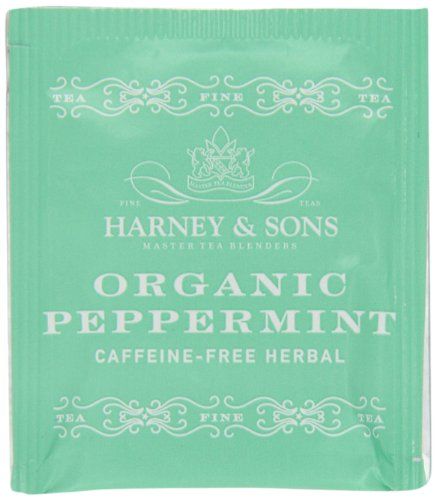Harney & Sons Organic Peppermint Tea, 50 Tea Bags