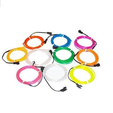 Zcl 1.6 Meter Flexible Neon Light Glow Decorative 2.3Mm Diameter El Wire With 2Aa Battery Pack , Dark Green