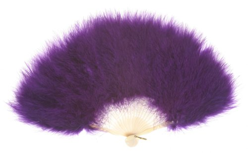 Zucker Feather Products Large Marabou Feather Fan, Purple - 1