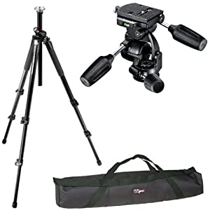 Manfrotto 055XPROB/808RC4 Pro Tripod Kit and a Vidpro 35