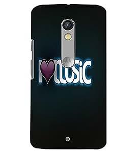 MOTOROLA MOTO X PLAY I LOVE MUSIC Back Cover by PRINTSWAG
