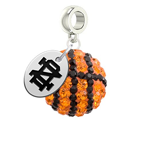 Notre Dame Fighting Irish Basketball Drop Charm Fits All European Style Bracelets