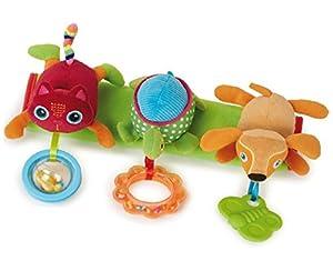 Oops Little Helper - Juguete para barra de cochecito, diseño de tortuga, perro y gato de peluche
