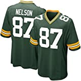 Mens Green Bay Packers Jordy Nelson #87 Green Game Jersey