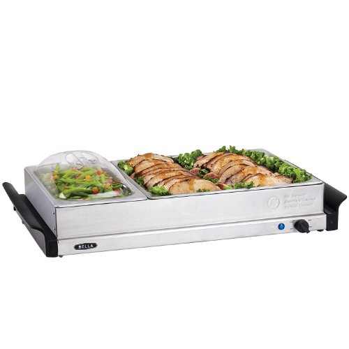 3 x 2.5QT Triple Buffet Server with 5QT Pan