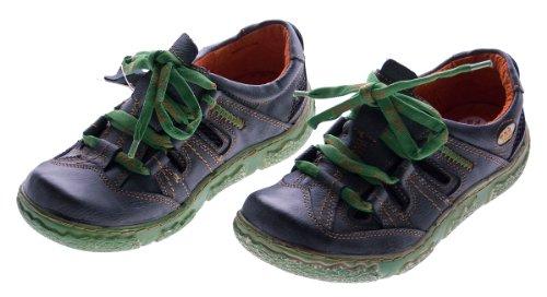 Damen Leder Halb Schuhe Used Look Comfort Sneakers Schwarz TMA Eyes Gr. 36