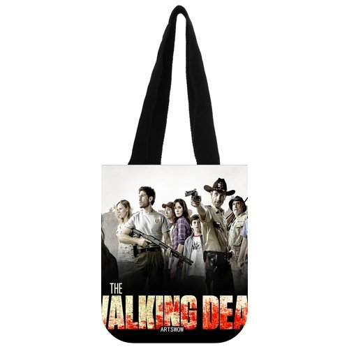 "ARTSWOW The Walking Dead Custom Borsa Grocery Borsa da viaggio borsa a tracolla 03 (due lati), Tela, color-5, 12.2"" x 11"" x 3.3"""
