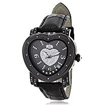 Luxurman Ladies Diamond Heart Watch 0.25 ct.