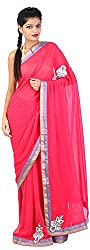 Mili Women's Chiffon Saree - (Red, MS-3)