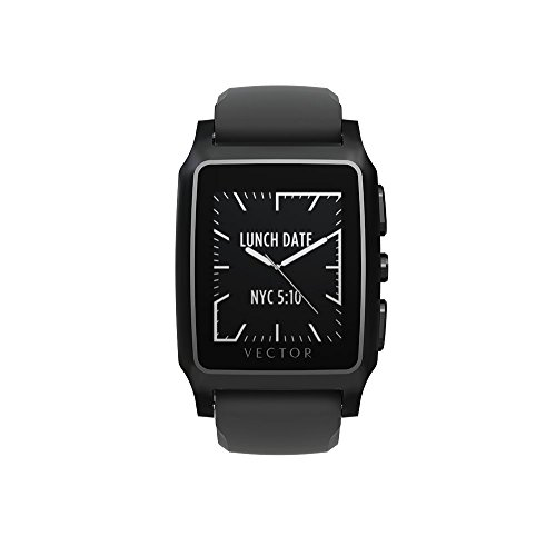 Vector Watch Black with Black Silicon Strap / Unisex