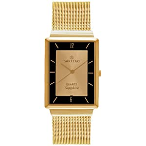 Men's Square Goldtone Sartego Seville Watch Gold Dial