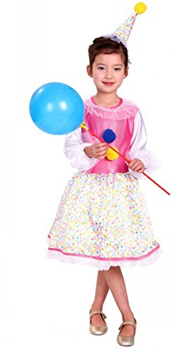 Treasure-box Cute Kids Clown Costume Halloweeen with Hat