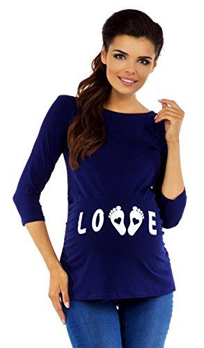 zeta ville maternit tee shirt de grossesse motif humour imprim femme 548c. Black Bedroom Furniture Sets. Home Design Ideas