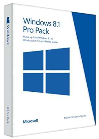 Microsoft Windows 8.1 Pro Pack (Win 8.1 to Win 8.1 Pro Upgrade) - Key Card