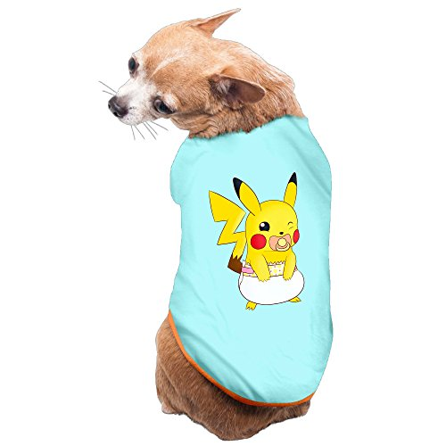 [Pikachu Pokemon Dog Costume Hoodies Charming Pet Supplies] (Easy Pop Culture Costumes)