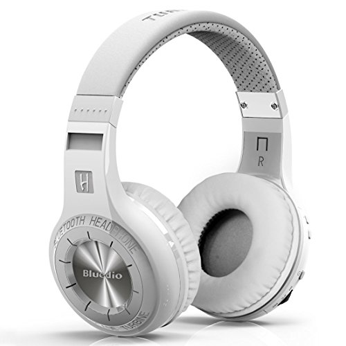 Bluedio H-Turbine Bluetooth Stereo Headphone Wireless Headphones Bulit-In Microphone Bt4.1 Headset Powerful Bass Enjoy Your Music Over-Ear Headphones -Retail Package Global Release (White)
