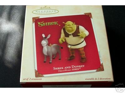 Shrek and Donkey 2003 Hallmark Keepsake Ornament