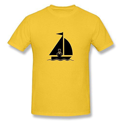 Male Sailing Fashion T-Shirts Size L Color Yellow