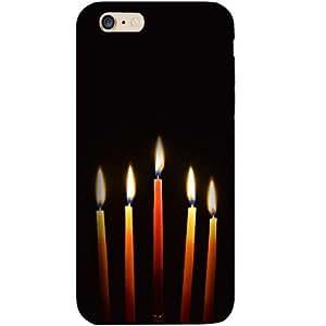Casotec Candle Lights Design Hard Back Case Cover for Apple iPhone 6 Plus / 6S Plus