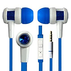 Hello Zone Fashionable and Stylish Headset Handsfree Headphone Earphone with Mic 3.5 MM Jack for Adcom Thunder A-500 -Blue
