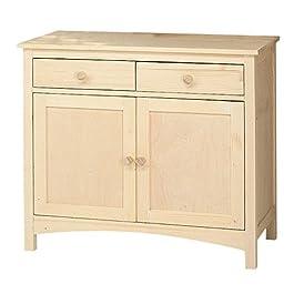 Credenza base country legno massello grezzo in abete 100x50x85 mod Florence