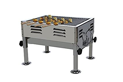 Fabrilla Barbeque Charcoal Portable Grill (With 5 Skewers)