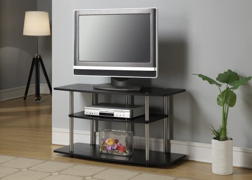 Convenience Concepts Designs2Go Wide 3-Tier TV Stand - Black