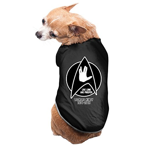 Leonard Nimoy Star Trek Design Dog Costume 100% Polyester Fiber Pet Supplies