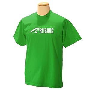 """Deine Stadt """"FREIBURG"""" !!! WIR HABEN JEDE STADT !!! Designer T-Shirt Wizuals GRUEN"""