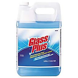 Glass Plus Glass Cleaner, Floral Scent, Liquid, 1 gal. Bottle (DRA94379)