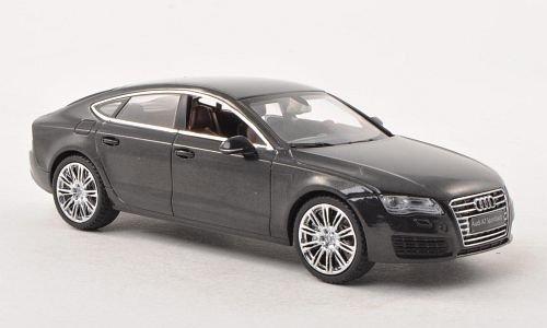Audi-A7-Sportback-met-dkl-grau-Modellauto-Fertigmodell-Kyosho-143