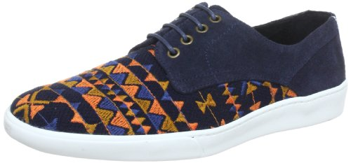 Swear London  GENE20W,  Pantofole uomo, Multicolore (Mehrfarbig (NAVY SUEDE-TAPESTRY/WHITE SOLE)), 41