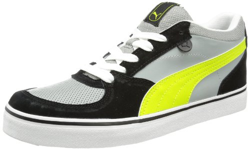 Puma Skate Vulc Low Top Mens Gray Grau (limestone gray-lime punch 11) Size: 12 (46 EU)