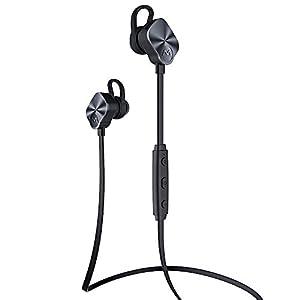[ New Versión ] Mpow Wolverine Auriculares Deportivos Bluetooth 4.1 In-ear Estéreo para Correr Gym con Mic. Aporta Manos Libres 8 Horas de Tiempo de Hablar Compatible con iPhone 6/6s Samsung Galaxy S6 Andriod Moviles
