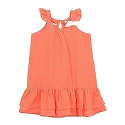 EIMOIE Girls Gathered Dress (Peach)