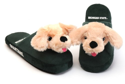 NCAA Youth Michigan State Spartans Mascot Slippers, Green, X-Large at Amazon.com