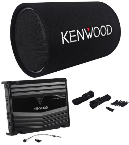 "Kenwood P-W130Tb 12"" 1200 Watt Peak/200 Watt Rms Car Subwoofer Bass Tube And Amplifier Package System"