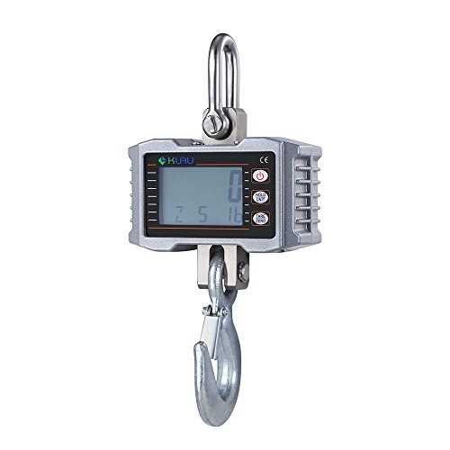 Klau 1T 1000 kg 2205 lb Aluminum Smart Crane Hanging Scales LCD Display
